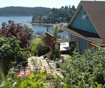 Garden oasis in the middle of historic Gibsons Landing