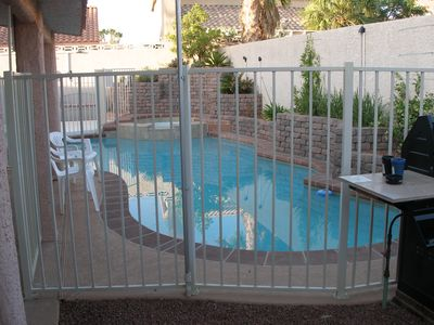 Las Vegas house rental - Custom pool/spa with security fence