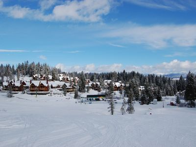 View of townhomes slopeside - also available - call us for details.