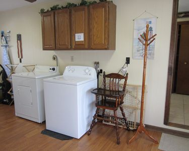 Full size washer & dryer on the first floor for your convenience.