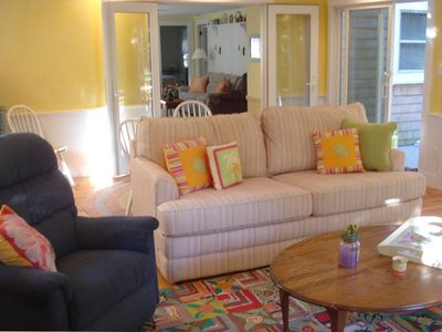 PARTIAL VIEW OF SUNROOM (PULL OUT COUCH)