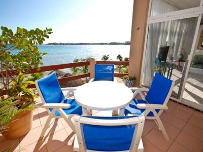 Akumal condo rental - La Sirena #9, 2 bedroom oceanfront condo on Half Moon Bay, Akuma