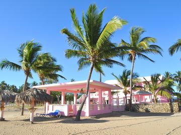 Beach Pavillion and Villa Flamingo as Viewed from the Beach