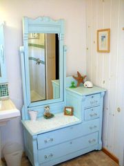 Vanity in downstairs bathroom - Old Orchard Beach house vacation rental photo