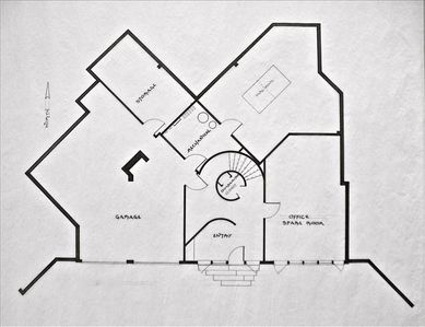 Chatham house rental - Entrance level plan.