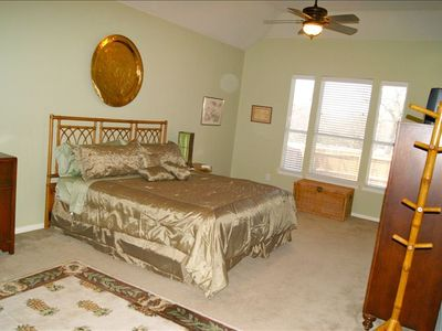 Huge master suite with large walk-in closet and attached large master bath.