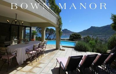 Bown Manor Luxury Residence On Millionaires Mile Hout Bay Sleeps 8