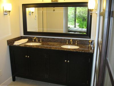 Dual Sink Vanity in Master Suite
