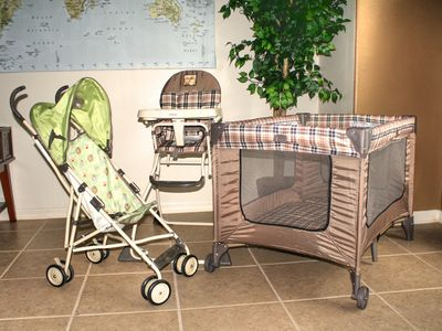 Baby equipment available on site