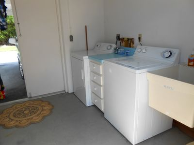 Utility room with laundry