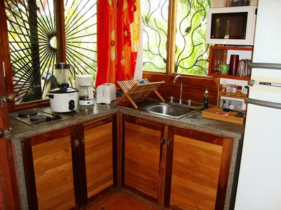 Nosara cottage rental - Our kitchen has everything you need to cook great meals - a nice store is nearby