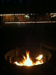 West Glacier cabin rental - Sitting by the fire pit on a cool summer evening - this could be you!