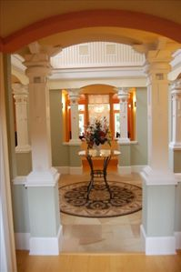 Richly detailed atrium