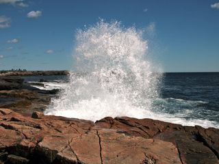 Crashing wave at Schoodic Point in Acadia National Park - just 15 minutes away.