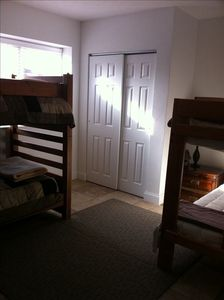 4th Bedroom - Two sets of bunk beds
