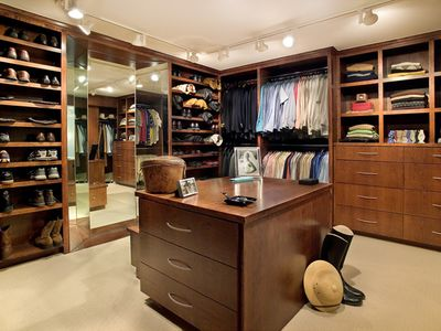 2 master closets. This is his and will be empty for your ...