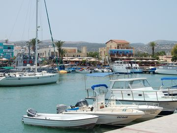 Latchi Harbour & restaurants