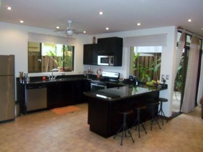 Lovely, modern fully furnished kitchen with stainless appliances and granite!