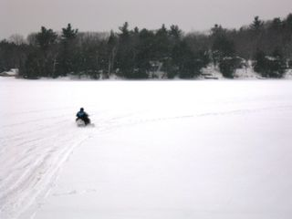 Gilmanton cottage photo - Winter fun - Great for Snowmobiles on the Lake or main trails