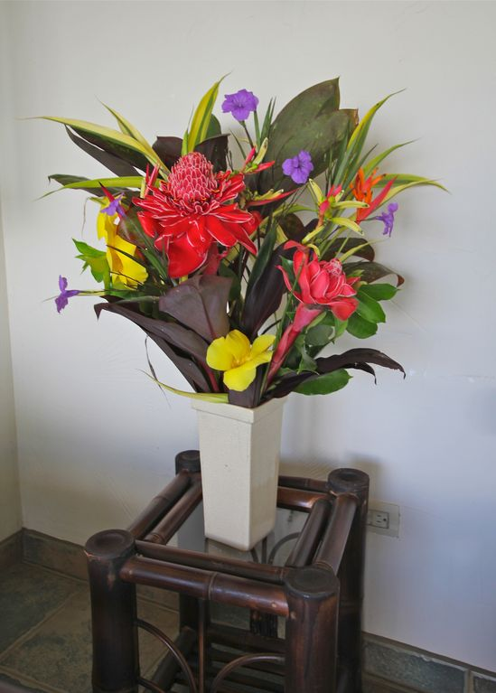 Typical flower arrangement made for the villa