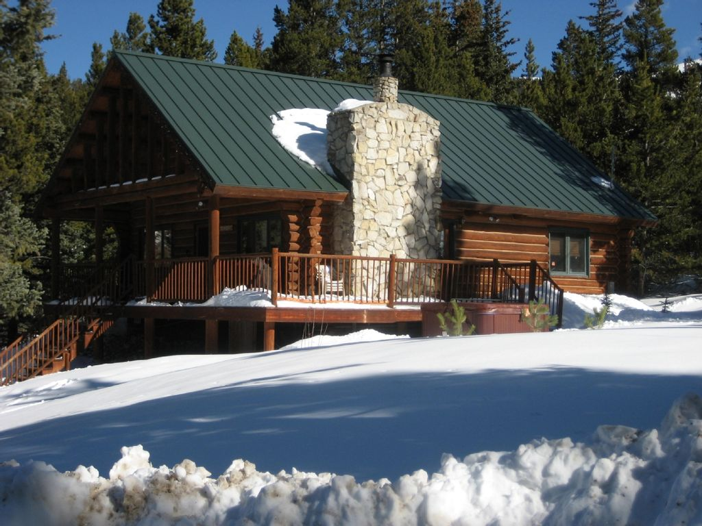 Breckenridge Log Cabin Minutes To Main St Vrbo