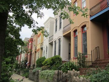 Capitol Hill townhome rental - Our street. The house is the second from right.