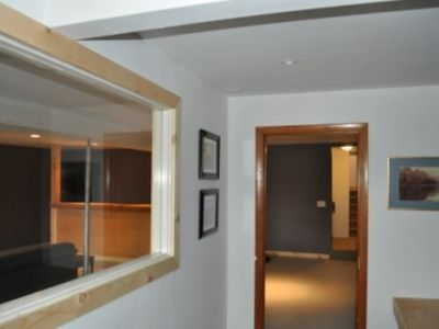 Manchester house rental - Entry Vestibule to Family Room, Lower Level