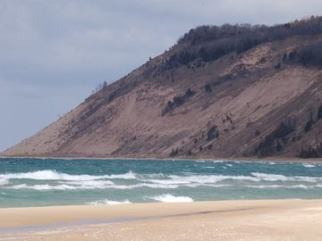 Windy winter day on Lake Michigan. So many beaches, so little time!