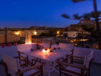Old Town Rhodes 2 bedroom apartment with roof terrace, All year around!