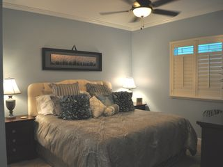 "Gulf Shores condo photo - Living area with gorgeous leather sectionals and 55"" TV with Netfix ..."
