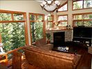 Large Sunny Living Room with Large Screen HDTV - Vail house vacation rental photo