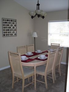 Separate dining area