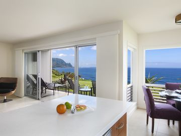 Princeville condo rental - View from Kitchen.