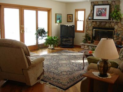 Port Sanilac house rental - another view of living area - before new paint.
