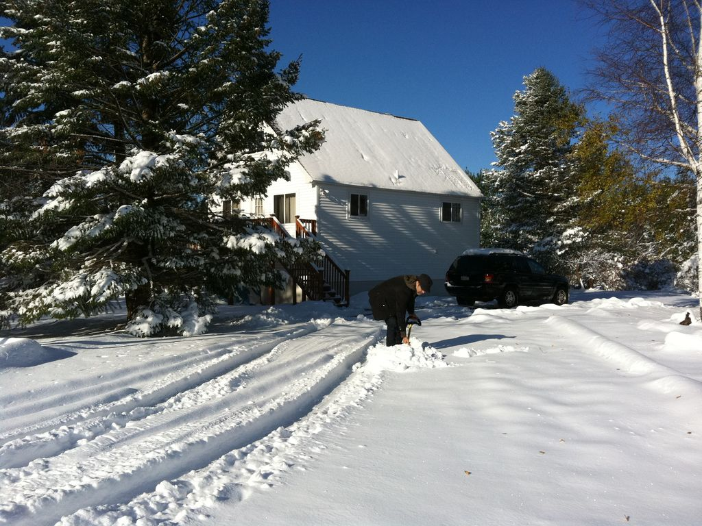 A snowy sunday in northeastern pa for Long pond pa cabin rentals