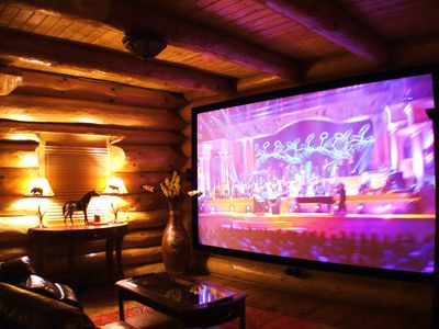 Pigeon Forge cabin rental - 156 inch home theater screen