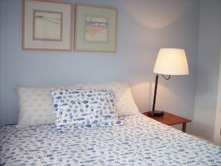 Tybee Island house photo - Blue bedroom, queen