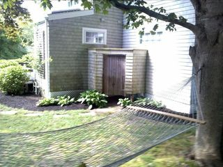 Chatham house photo - Backyard - Includes outdoor shower, hammock