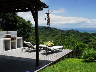 Mal Pais villa photo - Argentian style BBQ. Deck view towards Mal Pais