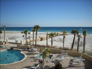 Pensacola Beach condo photo - Fabulous view-2 pools, one heated and heated spa