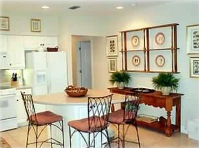 Kitchen Area with Island is a gourmet's dream and ajoins the large dining area.