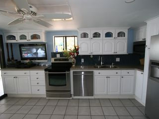 Keauhou house photo - new kitchen with ocean view
