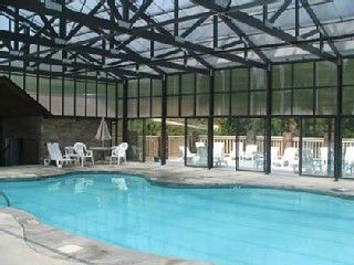 Heated Pool and Sun Deck at Hidden Springs Resort, Pigeon Forge