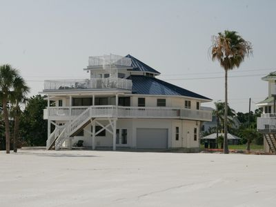 House from Gulf side with white sand beach