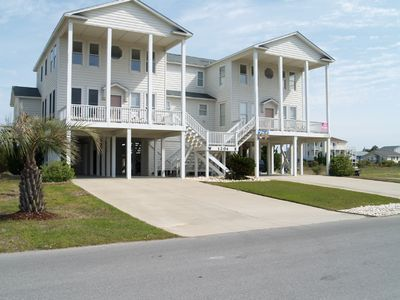 Holden Beach house rental - Beautiful Holden Beach Home view from the street