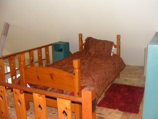 Lubec cottage photo - loft bedroom with twin beds