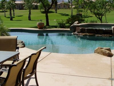 Pool, Spa, Waterfall and Golf Course