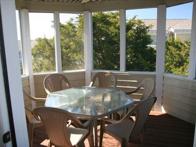 Eat out on the large screened porch-One of many