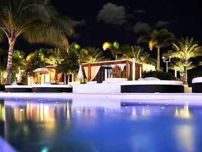 Night View at the Pool