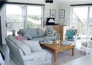 Chappaquiddick house photo - Living Room with Sweeping Views